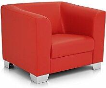 moebel-eins CHICAGO Sessel/Ledersessel, ro