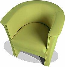 moebel-eins COCKY Kunstleder Sessel Clubsessel, grün