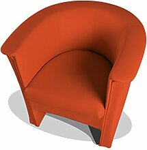 moebel-eins COCKY Kunstleder Sessel Clubsessel, orange