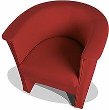 moebel-eins COCKY Kunstleder Sessel Clubsessel,