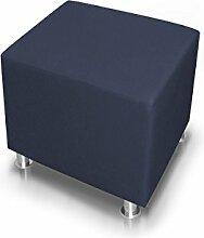 moebel-eins KUBO Sitzwürfel Kunstleder 45 cm, blau