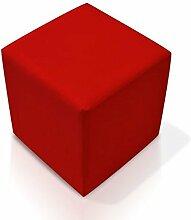 moebel-eins KUBUS Sitzwürfel Bandscheibenhocker Sitzhocker Fußhocker in rot 35x40x35 cm, ro
