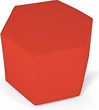 moebel-eins SALLY Sitzwürfel in Kunstleder, ro