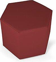 moebel-eins SALLY Sitzwürfel in Kunstleder, weinro