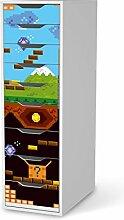 Möbel-Folie für IKEA Alex Schreibtisch-9 Schubladen | Muster Dekorfolien Möbel-Folie Sticker | Möbel einrichten Deko | Design Motiv Pixelmania