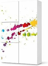 Möbel-Folie für IKEA Besta Schrank Hochkant 4 Türen (3+1) | Aufkleber Möbel Klebefolie Sticker Tapete Möbel umgestalten | Schöner Wohnen Jugendzimmer Dekoartikel | Design Motiv Splash 2