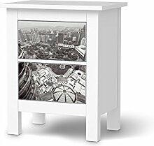 Möbel-Folie für IKEA Hemnes Kommode 2 Schubladen   Möbelsticker Bedruckte Klebe-Folie Möbel umgestalten   Home & Style Schlafzimmer Wohnideen   Design Motiv Petronas Tower View