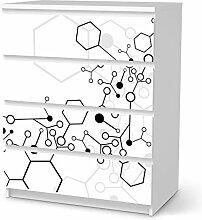 Möbel-Folie für IKEA Malm 4 Schubladen   Möbelsticker Bedruckte Klebe-Folie Möbel umgestalten   Home & Style Schlafzimmer Wohnideen   Design Motiv Atomic 1