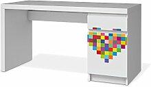 Möbel-Folie für IKEA Malm Schreibtisch Kommode |