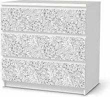 Möbel-Folie IKEA Malm 3 Schubladen Aufkleber