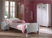 Möbel für Jugendzimmer Weiß (dreiteilig)