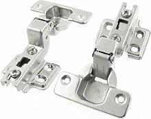 Möbel Hardware Buffer Metall Verdeckte Kabinett Scharnier 2Pcs