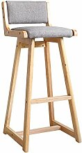 Möbel Hocker Barhocker aus Holz Gepolsterter Sitz