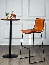 Möbel Hocker Barhocker aus Kunstleder mit Rücken