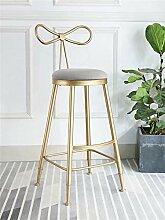 Möbel Hocker Grauer moderner Barhocker, der Stuhl
