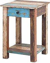 MÖBEL IDEAL Beistelltisch Vintage Holz Bunt 30 x