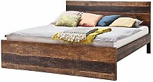 MÖBEL IDEAL Bett Kumasi Holzbett aus Massivholz