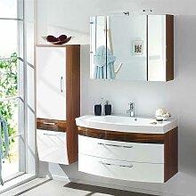 Möbel Kombination für Bad Weiß Hochglanz