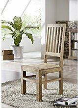 Möbel massiv Holz Palisander geölt grau Stuhl Sheesham Kolonialstil Massivholz Möbel LEEDS #32