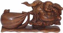 Möbel Mitter Buddha aus Holz, 40cm