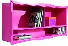 Möbel Oleana Carla Regal, Holz, Pink, 120x 22x 56cm