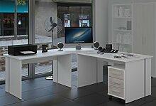 Möbel Pracht Eckschreibtisch Schreibtisch Weiß