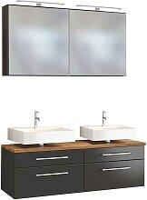 Möbel Set für Bad Doppelwaschtisch (3-teilig)
