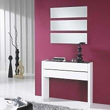 Möbel Set für Diele Weiß Hochglanz Dunkelgrau