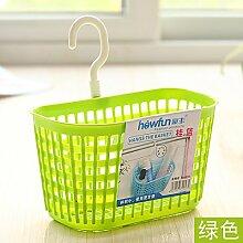 Möbel täglichen Bedarfs WWYXHQC Die Plastik aus dem Badezimmer montiert hängenden Korb zugeben Warenkorb Küchenzeile zugeben, Badewanne Warenkorb Pflegeprodukte zugeben behindern Warenkorb ,3222 grün