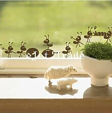 Möbel wand Aufkleber cartoon Dekoration Glas Aufkleber kostenloser Versand, ant auf Spiegel Fenster Aufkleber Dekoration, schwarz