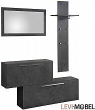 Moebelaktionsshop24 Garderobe Set 3-TLG