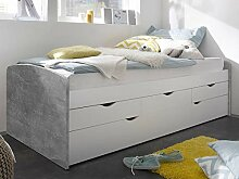 möbelando Bett Einzelbett Jugendbett Futonbett