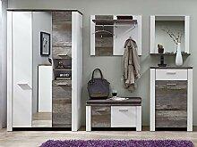 möbelando Garderobe Garderobenprogramm Dielen-Set