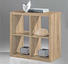 möbelando Raumteiler Standregal Bücherregal