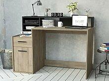 möbelando Schreibtisch mit Aufsatz Computertisch