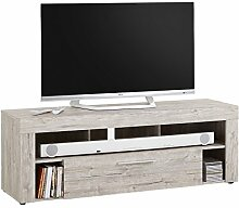 möbelando TV-Lowboard HiFi Longboard Unterschrank