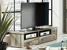 möbelando TV-Lowboard Schrank Fernsehtisch HiFi