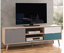 möbelando TV-Lowboard Unterschrank Fernsehtisch