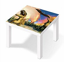 Möbelaufkleber für Ikea Lack Tisch 55x55cm