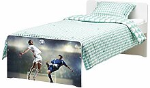 Möbelaufkleber für Ikea SLÄKT Bett Fussball