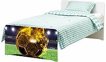 Möbelaufkleber für Ikea SLÄKT Bett Fussball in