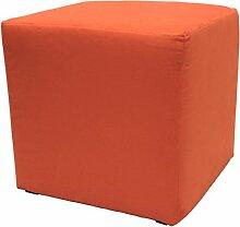 Möbelbär 8005 Sitzwürfel Hocker Sitzbank Cube mit Kunststoffgleiter ca. 45 x 45 x 45 cm, bezogen mit Alcantara Imitat Velour Wildleder Microfaserin 9 verschiedenen Farben (2139 - Carotte)