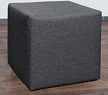 Möbelbär 8008-05 Sitzwürfel 45 x 45 x 45 cm, bezogen mit hochwertigem Sawanna Struktur, Webstoff, anthrazi