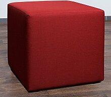 Möbelbär 8008-13 Sitzwürfel 45 x 45 x 45 cm, bezogen mit hochwertigem Sawanna Struktur, Webstoff, ro