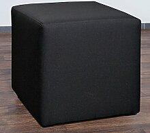 Möbelbär 8008-14 Sitzwürfel 45 x 45 x 45 cm, bezogen mit hochwertigem Sawanna Struktur, Webstoff, schwarz