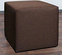 Möbelbär 8008-16 Sitzwürfel 45 x 45 x 45 cm, bezogen mit hochwertigem Sawanna Struktur, Webstoff, braun