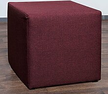 Möbelbär 8008-70 Sitzwürfel 45 x 45 x 45 cm, bezogen mit hochwertigem Sawanna Struktur, Webstoff, lila