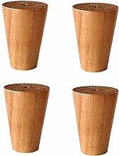 Möbelbeine, 4er-Set Konisches Holzsofa Bein