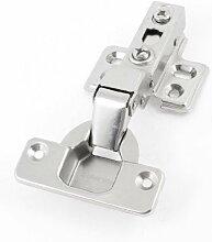 Möbelbeschläge Buffer verdeckter Schrank Metall Scharnier Silber Ton