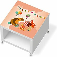 Möbeldeko Design Kindermöbel für IKEA Lack Beistelltisch mit Rollen   Klebefolie Sticker Aufkleber Verschönerung   Wohnideen IKEA Möbel für Kinder Wandgestaltung   Kids Kinder Bärenstark